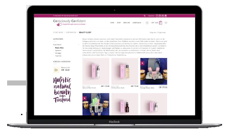 Bild einer Webdesign Online Shop Referenz - 123 Berlin Design
