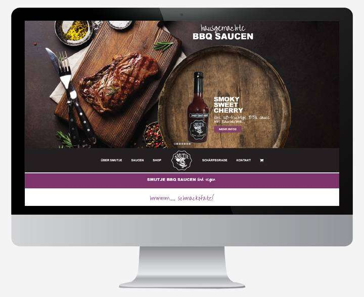 Grafik für Website/Webdesign Relaunch Referenz Villa Smutje BBQ Online Shop - 123 Berlin Design