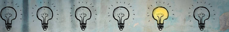 Grafik Symbol einer Glühbirne - Webdesign von 123 Berlin Design